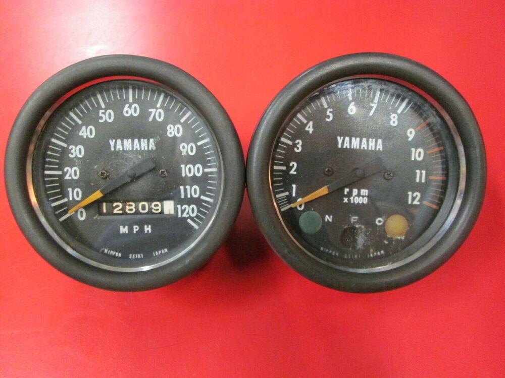 Ebay Sponsored Yamaha Cs3 Speedometer Tachometer Rd200 Tachometer Yamaha Ebay