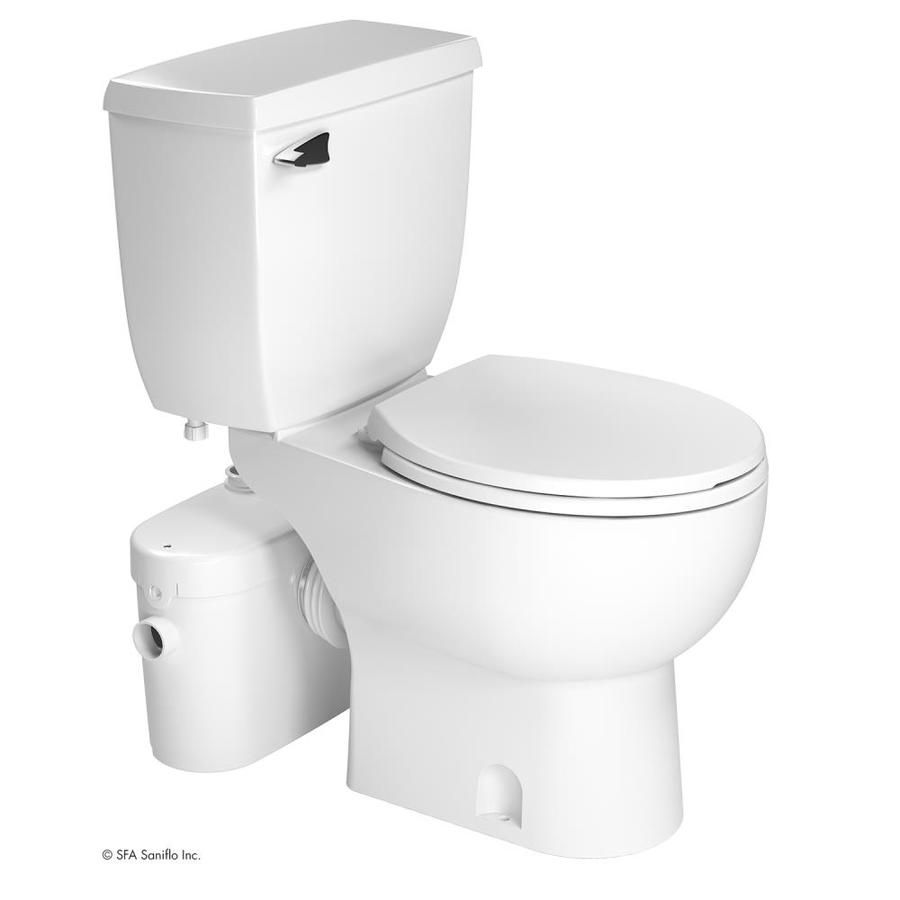 Saniflo Saniaccess2 White Watersense Labeled Round Chair Height 2
