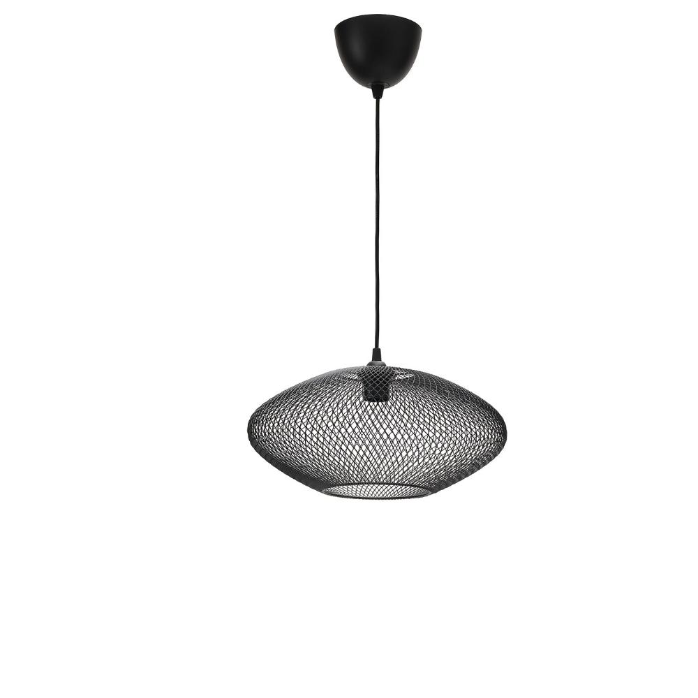LUFTMASSAHEMMA Taklampa, ovalmönstrad, svart, 37 cm IKEA