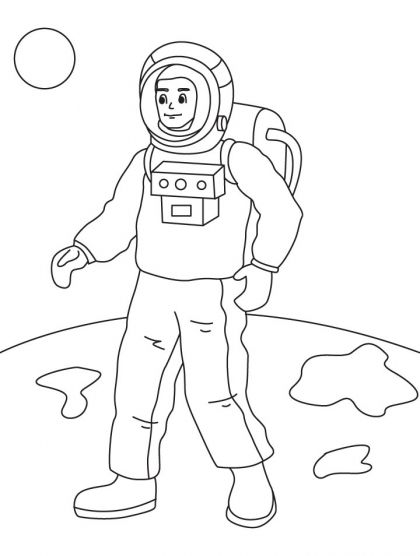 Astronauts Coloring Page Download Free Astronauts Coloring Page