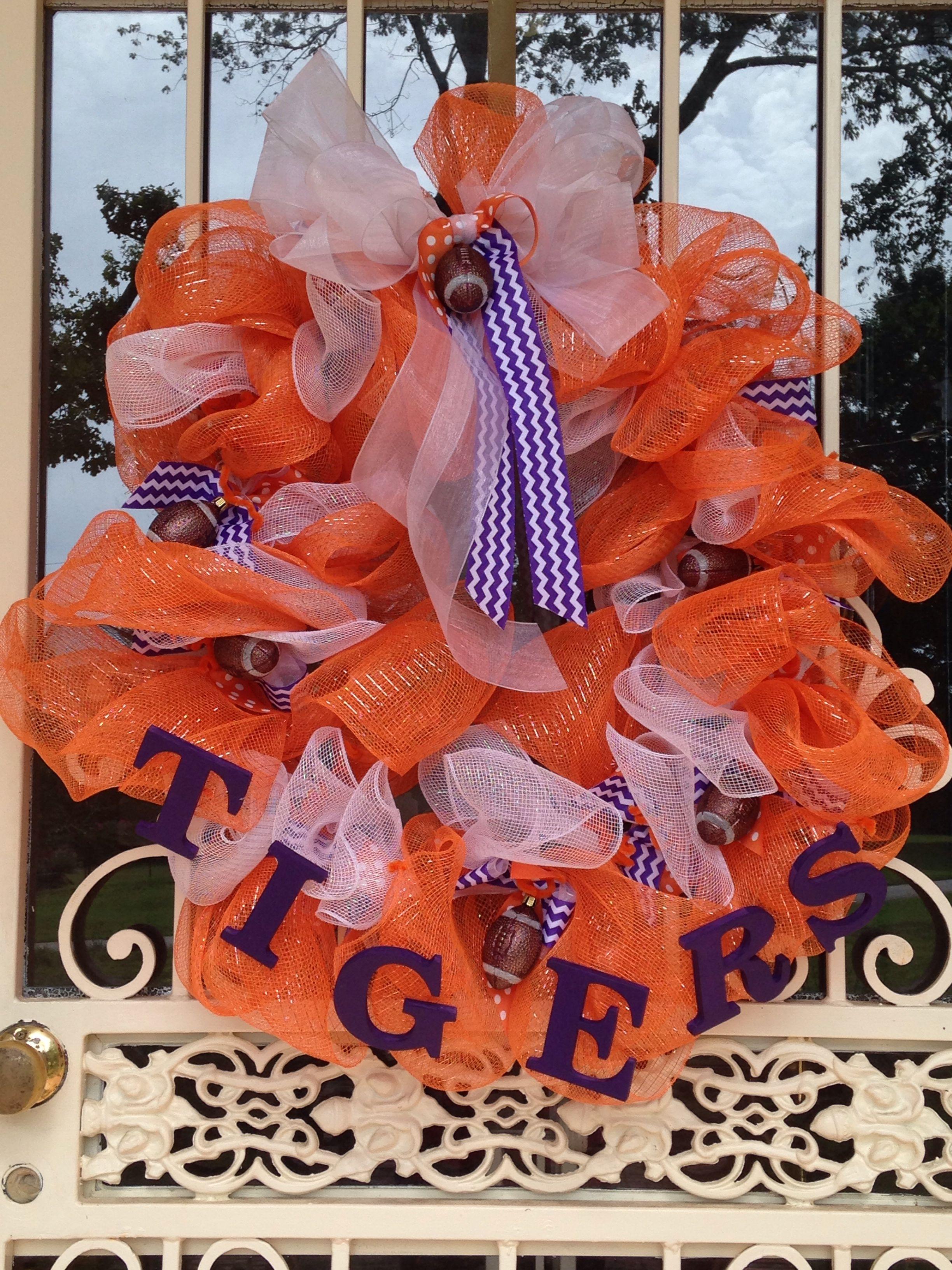 Clemson Tigers mesh wreath