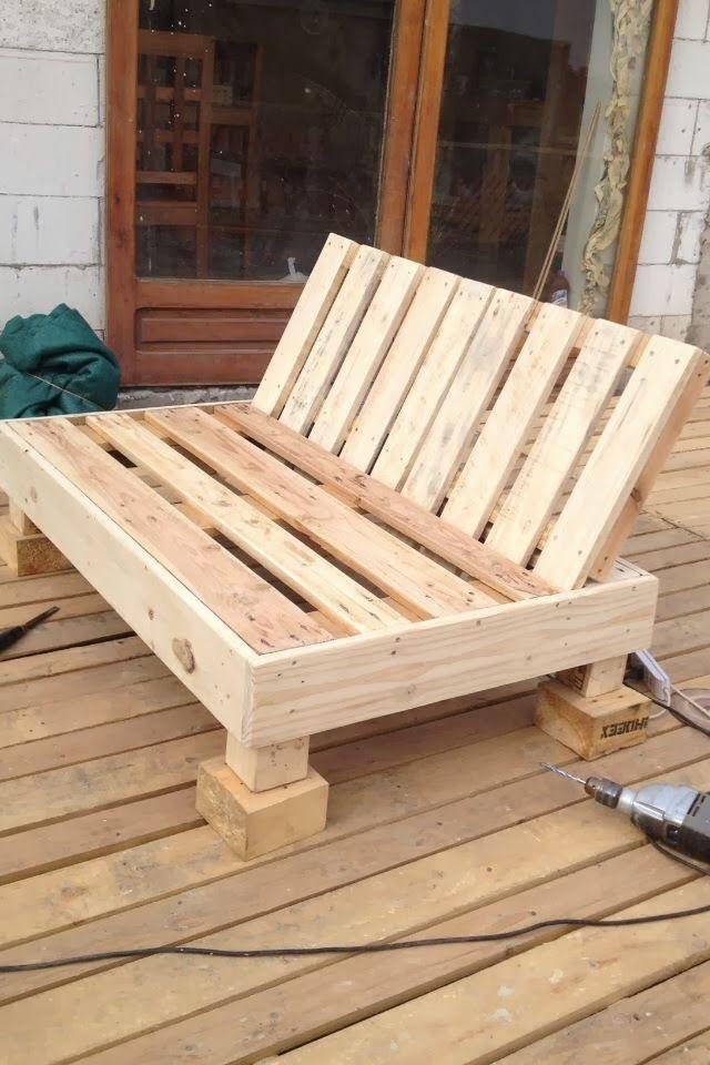 Muebles de Palets Palets Reciclados Decoy Construcción Terrazas - como hacer bancas de madera para jardin