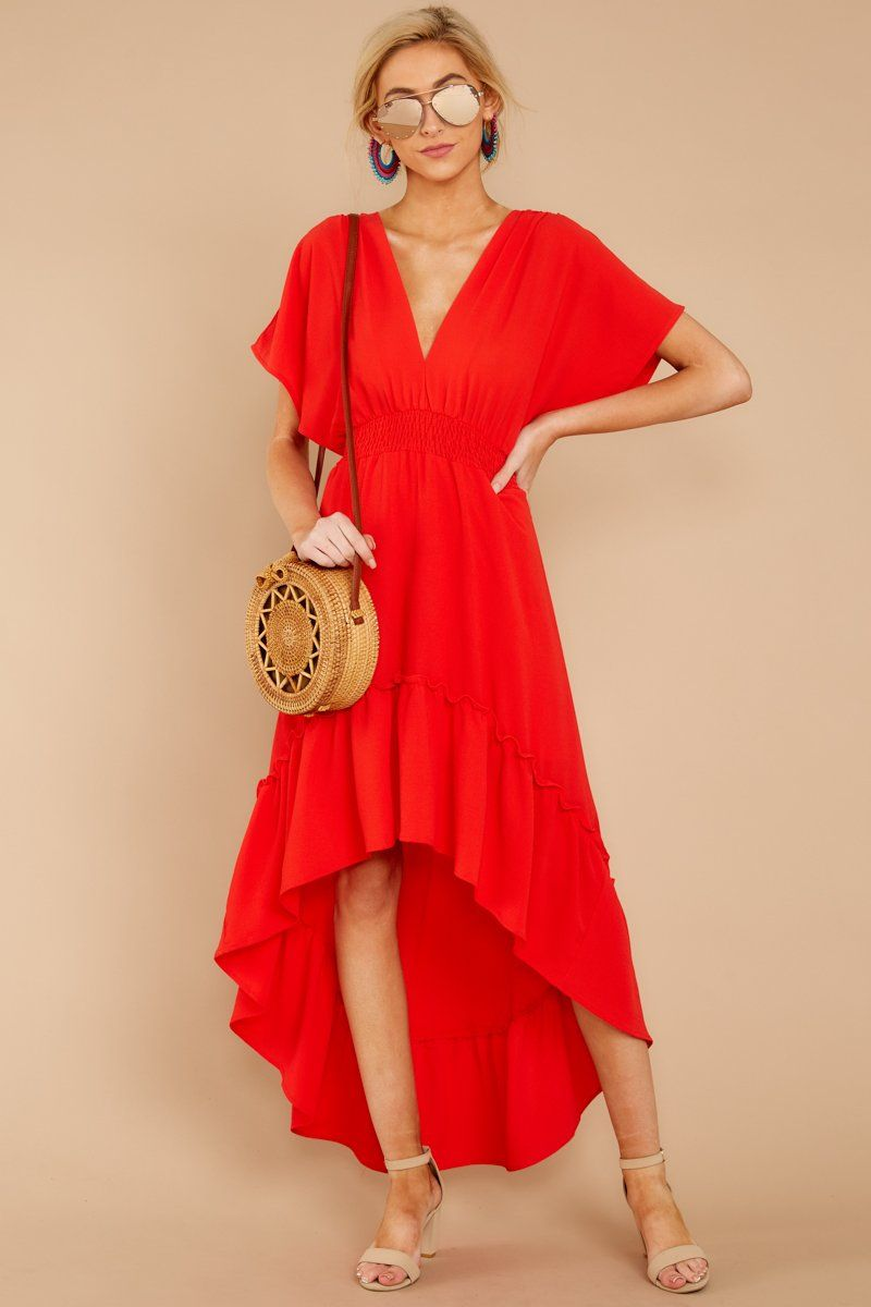Stunning Red High Low Maxi Dress Flowy Ruffled Maxi Dress 44 00 Red Dress Boutique Red High Low Dress Red Dress Boutique Red Dress Maxi [ 1200 x 800 Pixel ]