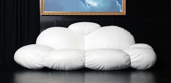 Cloudy Living Room Couches | Ground level