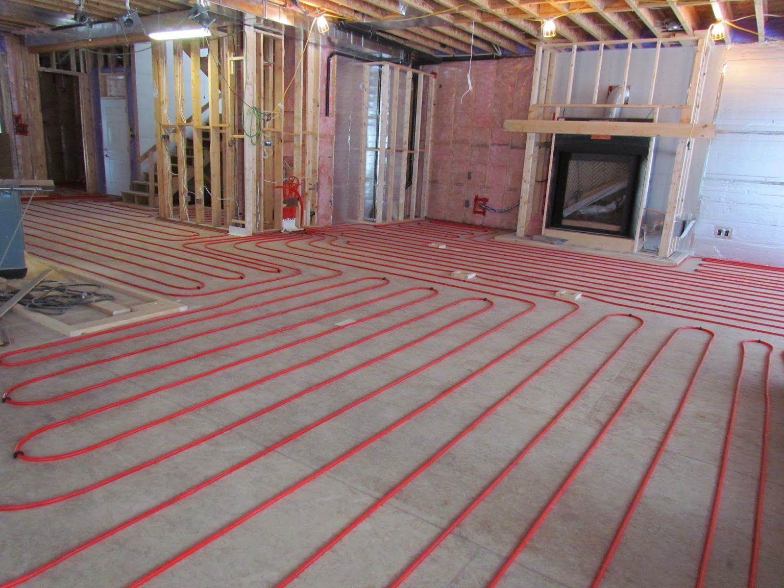 Radiant In Floor Heating In The Basement Radiant Floor Heating Heated Tile Floor Floor Heating Systems