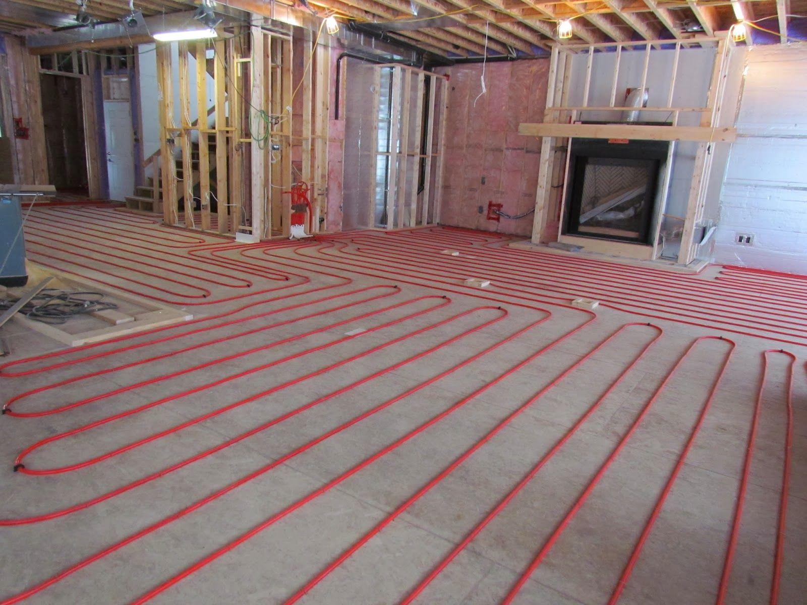 Radiant In Floor Heating In The Basement Radiant Floor Heating