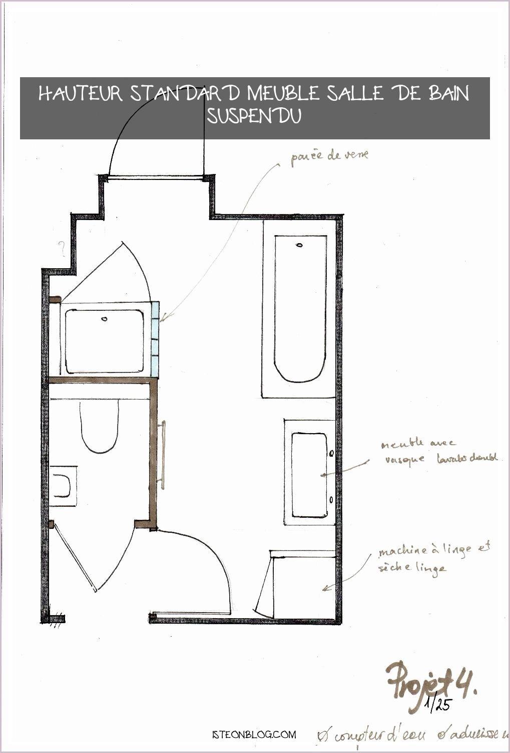 17+ Hauteur standard meuble salle de bain suspendu inspirations