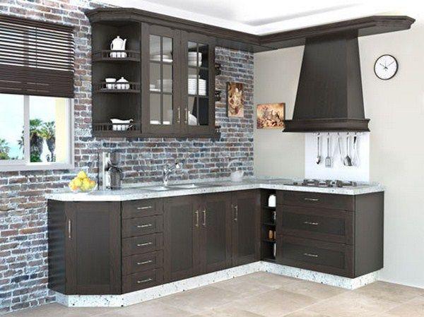cocina pequeña con muebles sencillos y elegantes - small kitchen ... - Muebles Para Cocina Pequenas