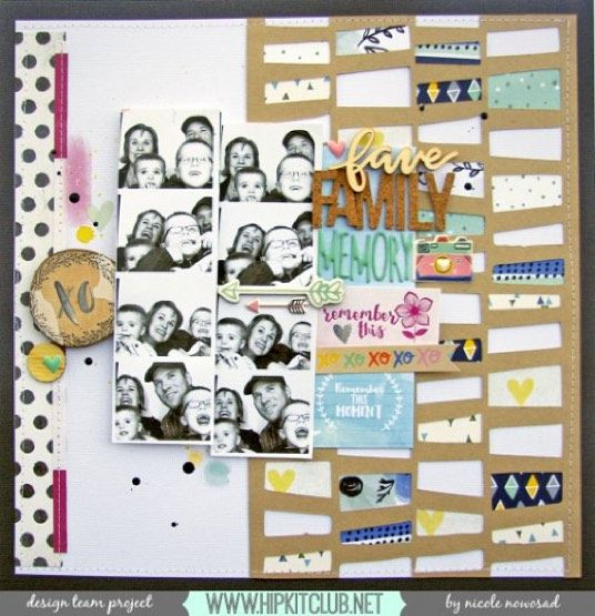 Designer @nicolenowosad has created this amazing LO with our #september2015 kits featuring @americancrafts @dearlizzy @amytangerine #enameldots #puffystickers #septemberkits #scrapbooking #scrapbook #scrapbookkits #layouts