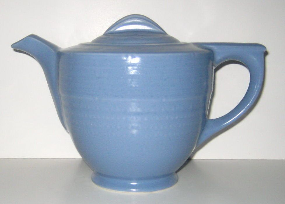 Windsor Blue Adele Art Deco Teapot Made by Hall China