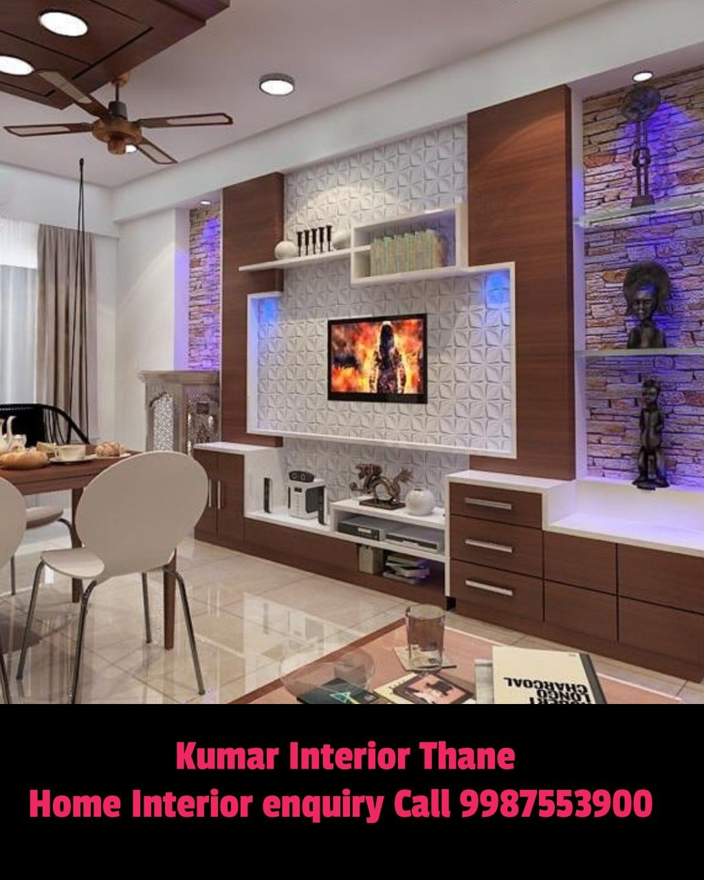 Lcd Panel Design Interior: Tv Unit Design For Living Room Interior Design By