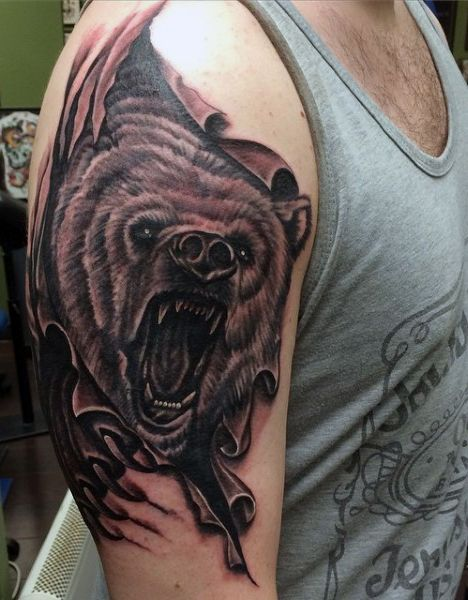 Bear Tattoos for Men | Animal Tattoos for Men | Bären ...