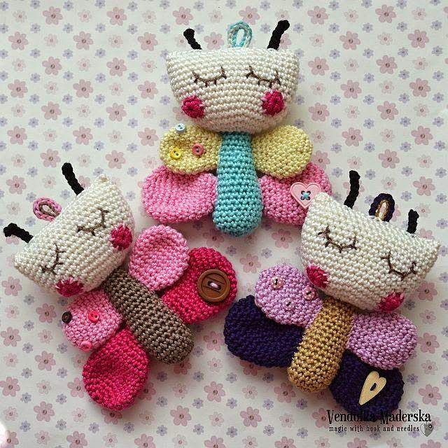 crochet butterfly | Amigurumis crochet | Pinterest | Patrones ...