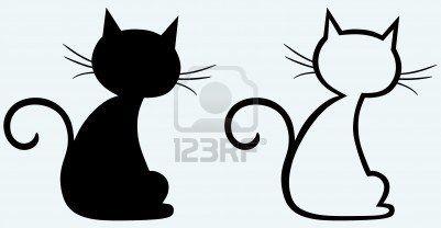 silhouette de chat noir silhouettes motifs silhouette chat chat et silhouette. Black Bedroom Furniture Sets. Home Design Ideas
