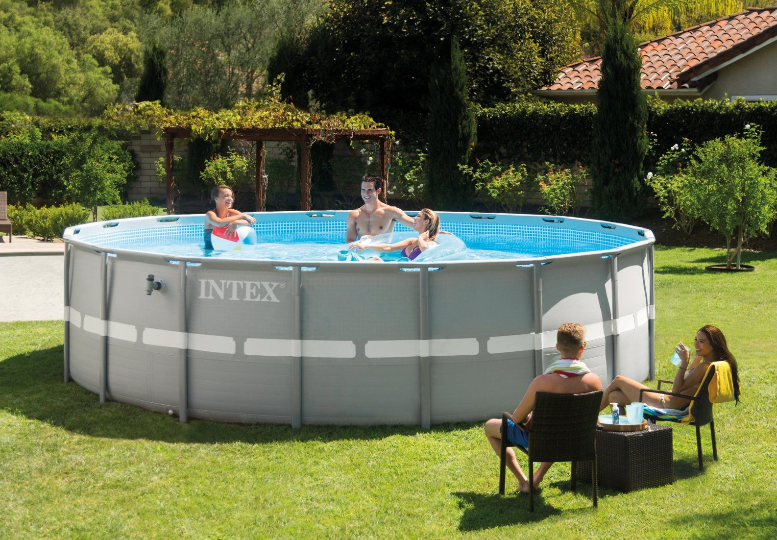 16ft X 48in Ultra Frame Pool Set - Ultra Frame® - Above ...