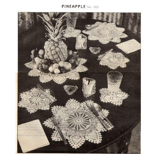 Crochet Pineapple Doily Pattern Set, Spool Cotton No 7335 ~ Have I ...