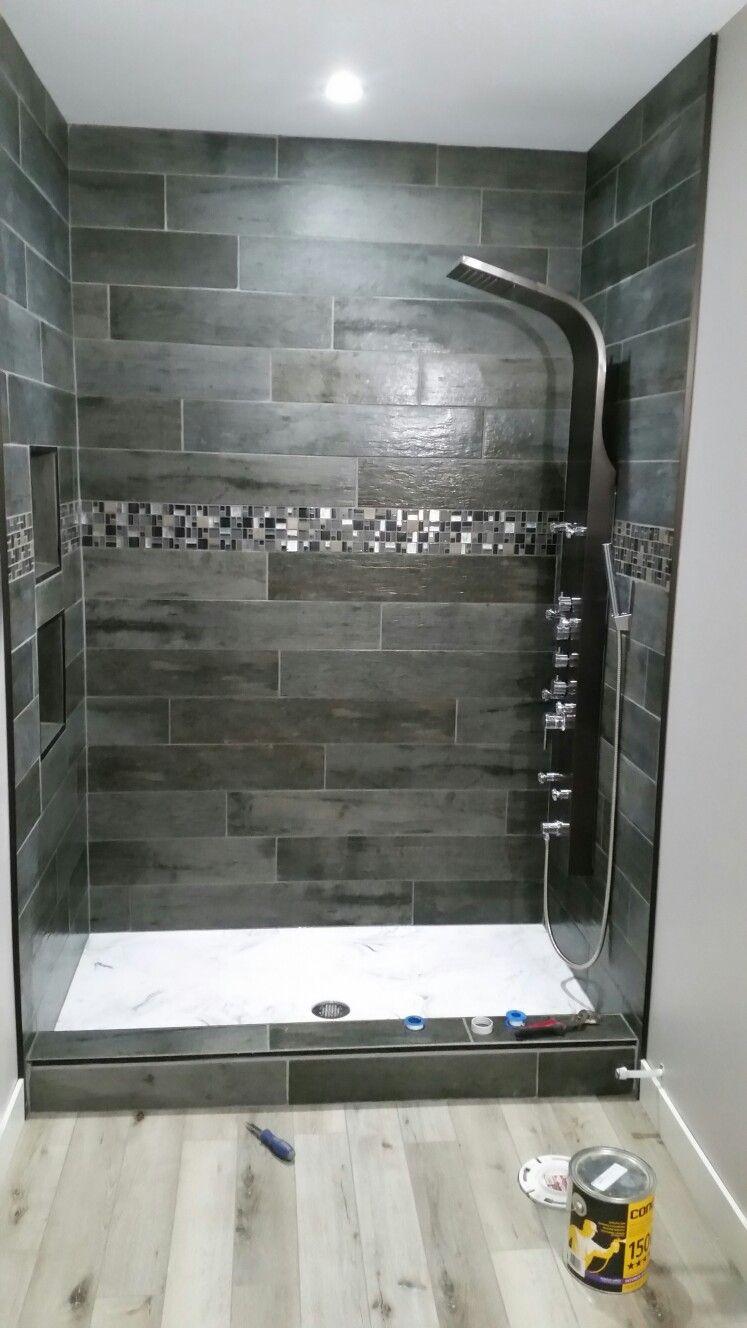 Shower Panel Barn Wood Tile Custom Shower Base Bathroom Tile