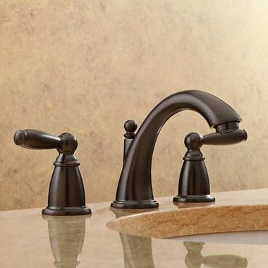 Brantford Two Handle Widespread Bathroom Faucet Bronze Bathroom