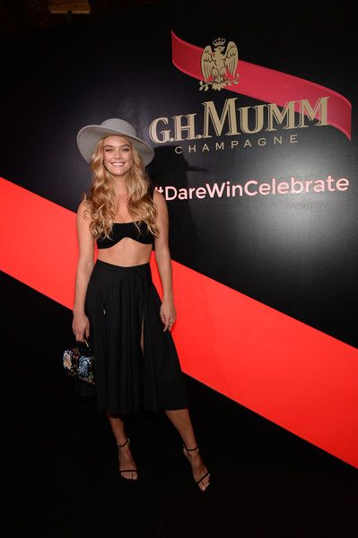 Nina Agdal Photos Photos - Nina Agdal attends G.H. Mumm and Usain Bolt's Toast to the Kentucky Derby on May 6, 2017 in New York City. - G.H. Mumm and Usain Bolt Toast to the Kentucky Derby in New York City