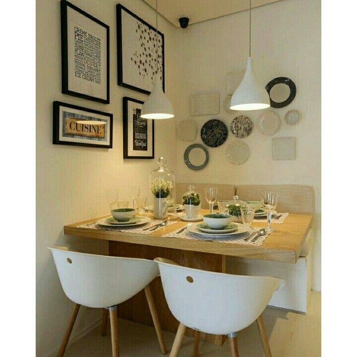 Mesa embutida e sofá | Cozinhas | Pinterest | Sala de estar, Comedor ...