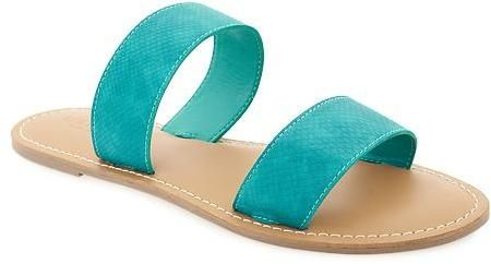 Textured Double Strap Sandals for Women | Double strap