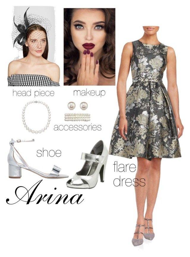 """Arina's Style"" by arini-lioni on Polyvore featuring Eliza J, Philip Treacy, Amrita Singh and Carvela"