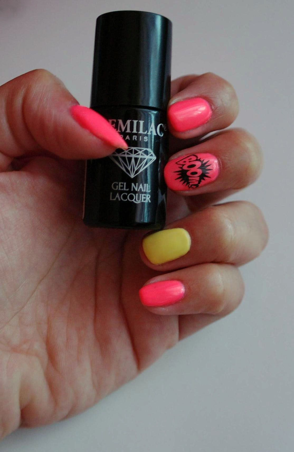 semilac, diamond cosmetics, gel polish, bright nails, nail art ...