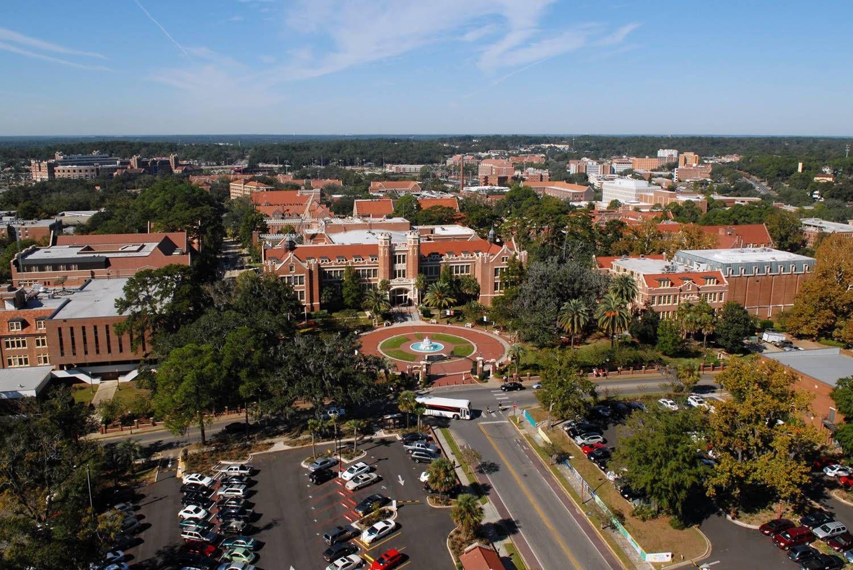 Fsu florida state university seminoles low aerial of