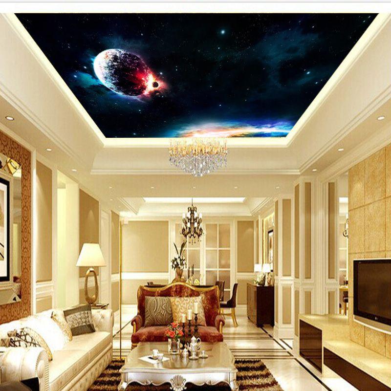 Custom photo wallpaper KTV bar mural Star Universe Wallpaper 3D ...