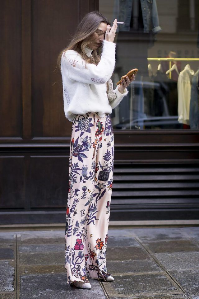 How To Wear Printed Pants In Winter | Closetful of Clothes
