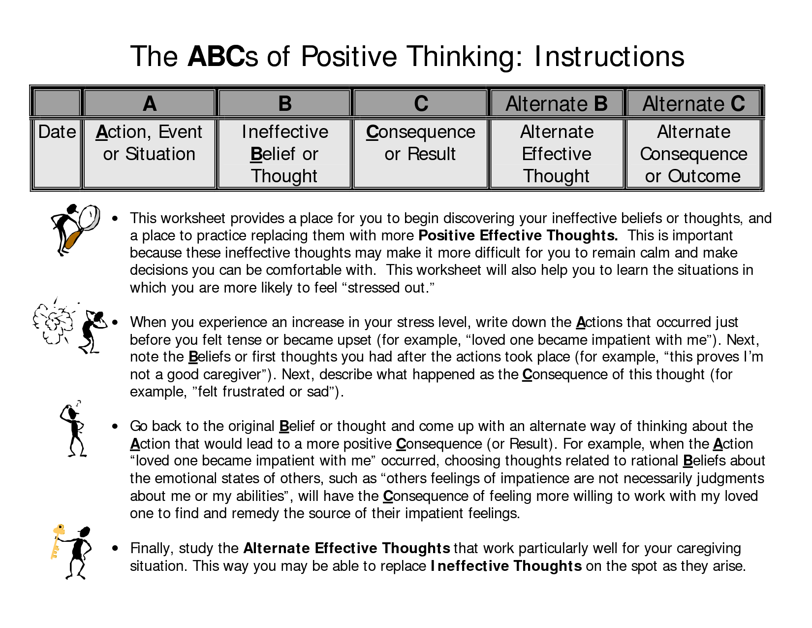 Healthy Thinking Worksheet