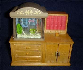 CALICO CRITTERS Dollhouse Furniture Lot ~ Table Bed Stove