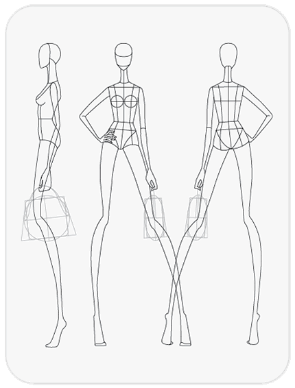 download fashion figure templates � pr234t224template art