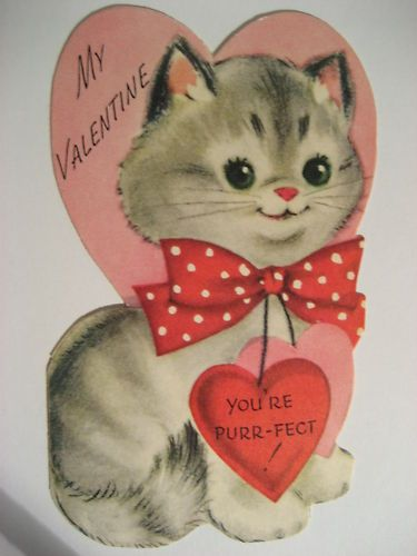Vintage Valentine Kitty Cat Ur Purr Fect Vintage Valentines V