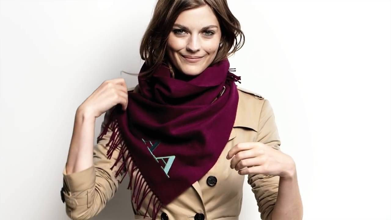 72 How to Tie a Scarf – The Bandana, from Burberry   How to tie a ... 1dcf29d202d