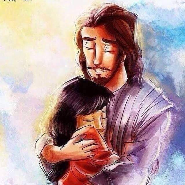 El Abrazo Amoroso De Jesus Jesus Drawings Jesus Cartoon Jesus Artwork