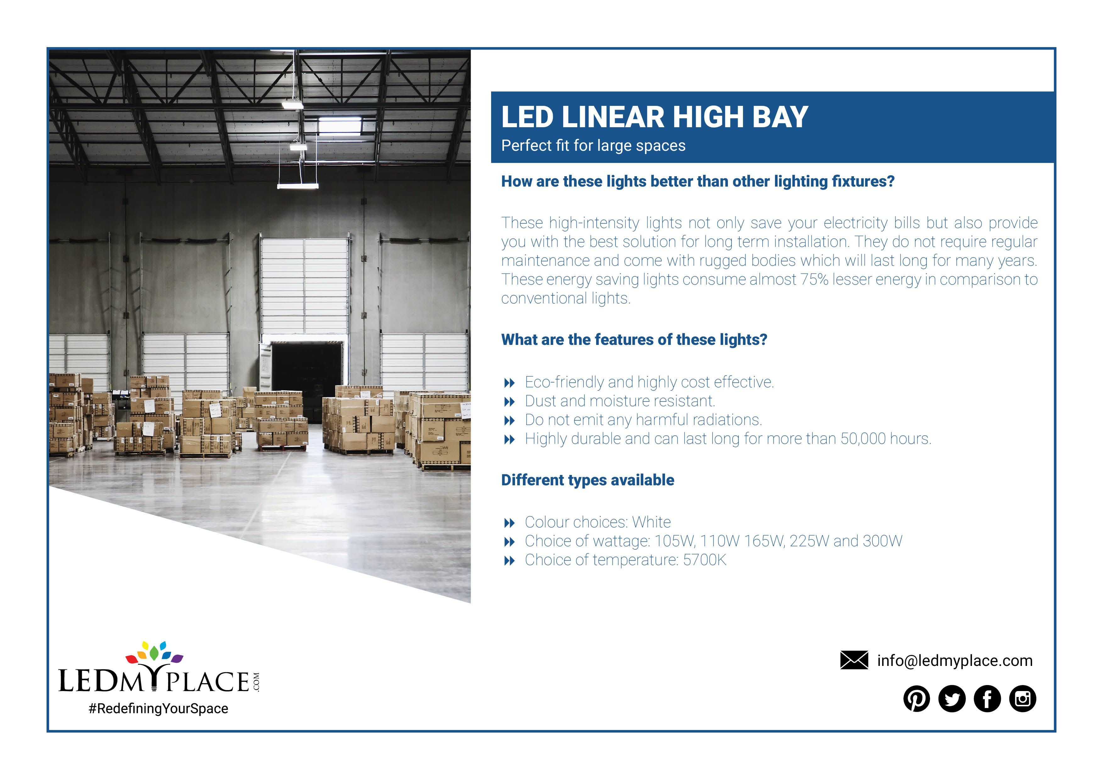 Led Linear High Bay Fixture Perfect Fit For Large Spaces High Bay Lighting High Bay Led Lighting Light Well
