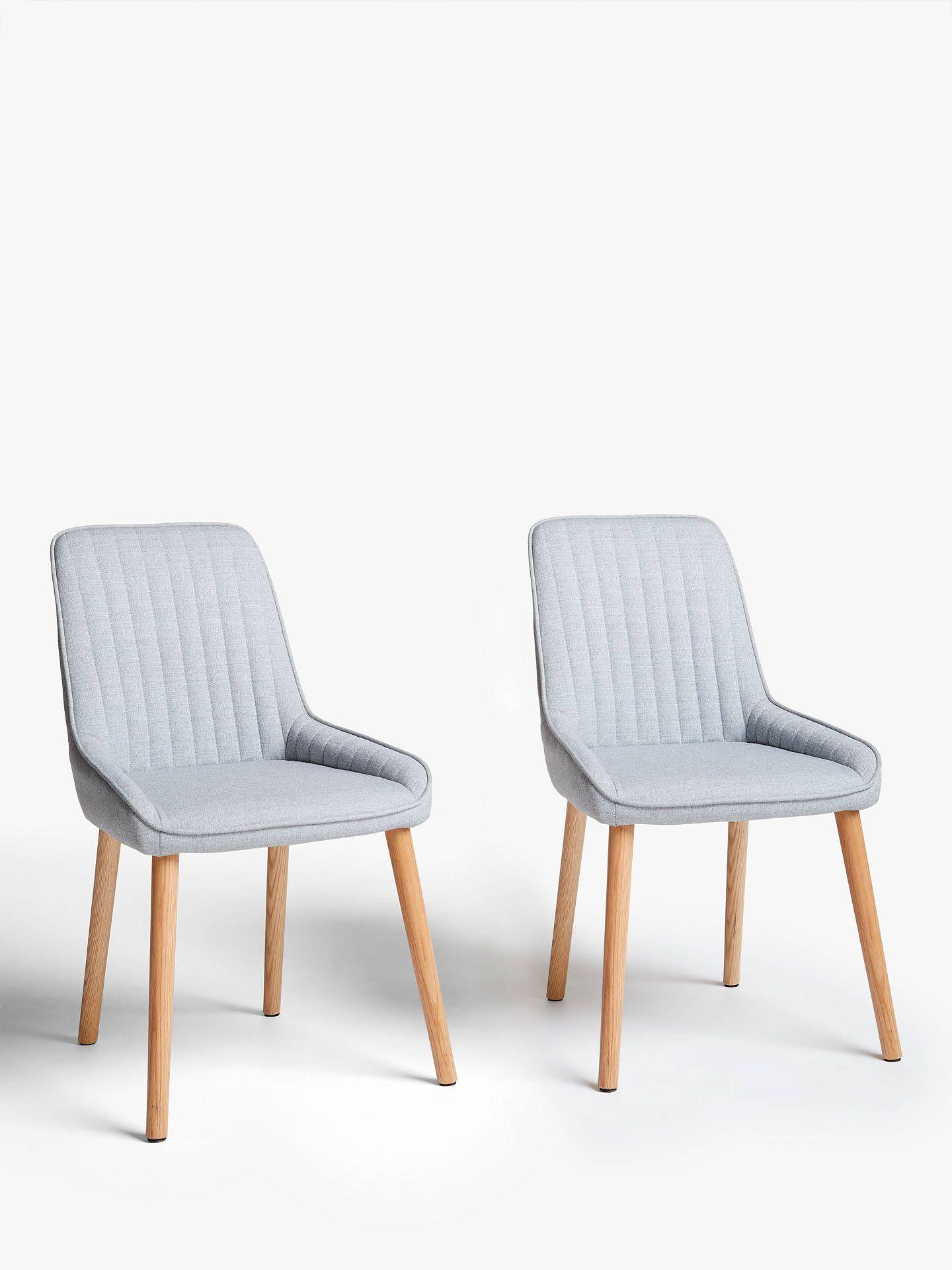 John Lewis & Partners Toronto Side Dining Chairs, Set of 9, Grey ...