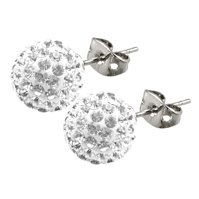 pretty 10mm winter tree beautiful earrings