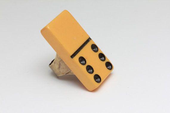 #Repurposed #Bakelite Domino Ring. #Vintage. @Etsy #lemoderntrinket #handmade #crafty