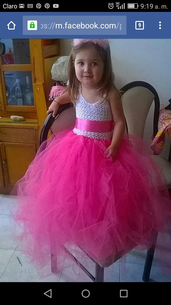 Vestido fiesta niña | crochet para niñas | Pinterest