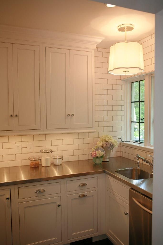 butlers pantry subway tiles, thin grayish grout lines | Take me home ...