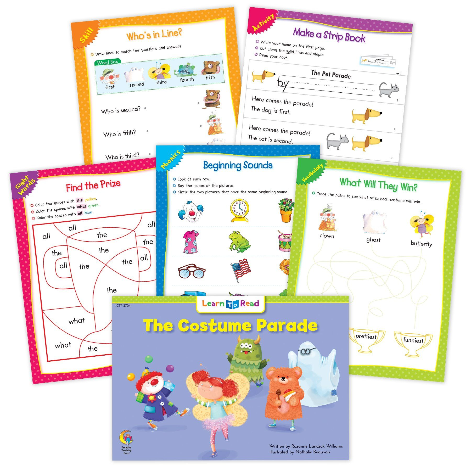 The Costume Parade Ebook Amp Worksheets Creative Teaching