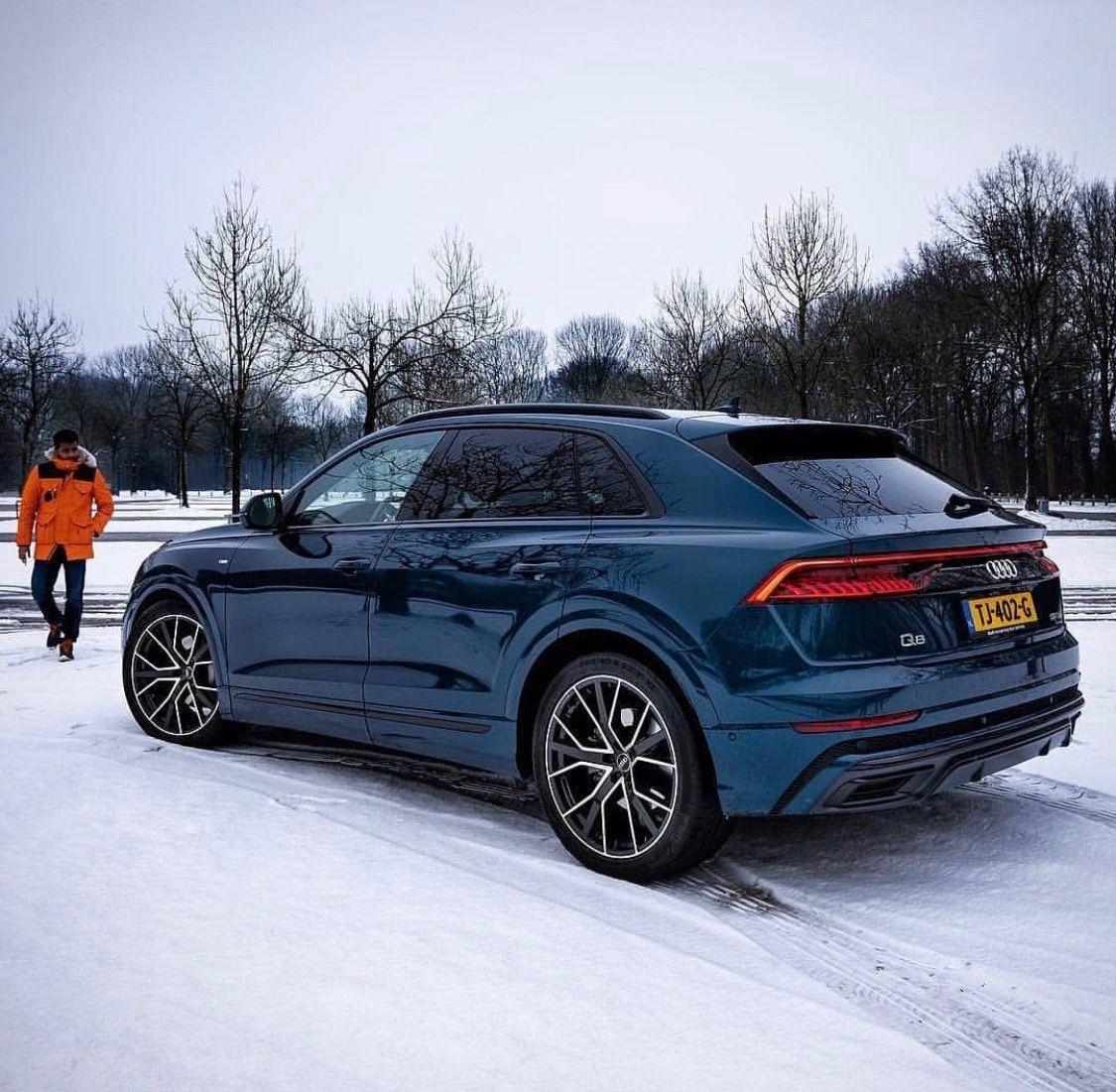 Audi Q8 Metallic Blue In The Snow Super Luxury Cars Audi Luxury Cars