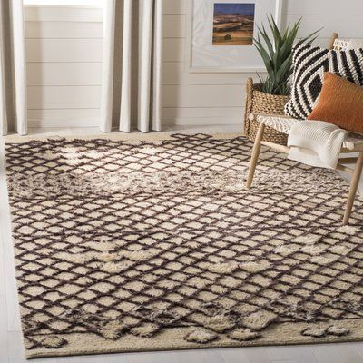 Bungalow Rose Princes Hand Knotted Wool Beige Dark Grey Area Rug Rug Size Rectangle 6 X 9 Area Rug Sets Cool Rugs Area Rugs