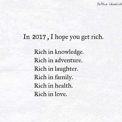 All I Wish You Is That You Become Rich And That You Have A Year