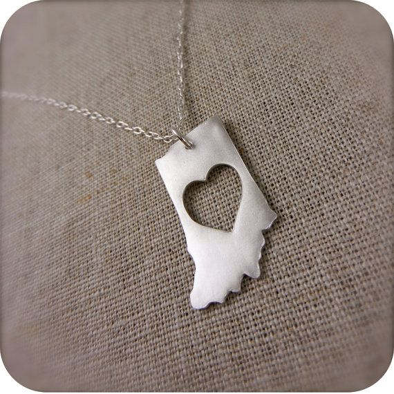 Love this Hoosier state pendant on Etsy _ #Indiana #Necklace