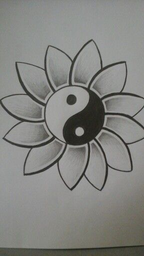 Ying Yang Tattoo Designs I Drew This My Friend Wanted It On Pinterest