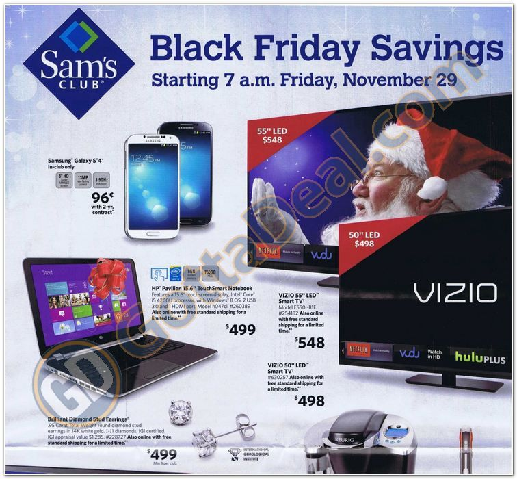 Sam's Club Black Friday Ad Scan for 2013 Page 1 of 12