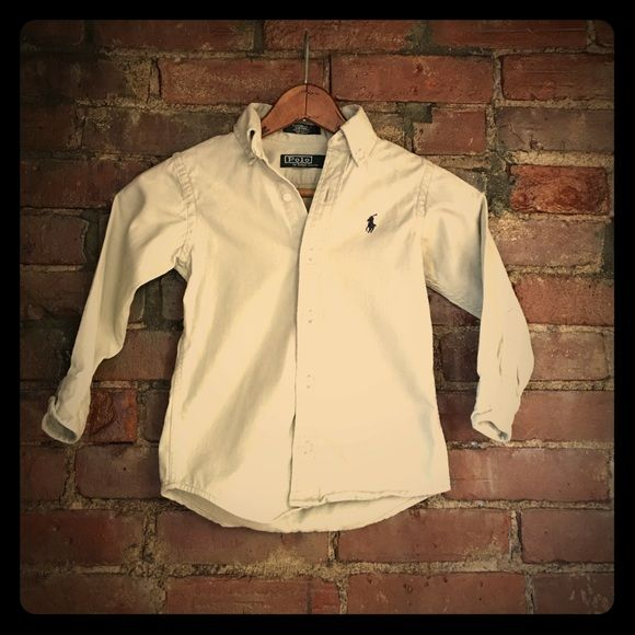 Toddlers Ralph Lauren Polo Shirt Toddlers Ralph Lauren Polo Shirt. Size 4 . Khaki in color. No spots, stains or tears. Ralph Lauren Tops Button Down Shirts